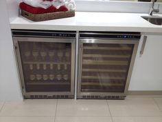 Delonghi bar fridge and wine cabinet for cocktail bar