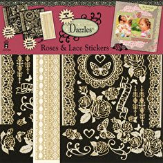 Roses & Lace Scrapbooking Dazzles™ Stickers by Hot Off The Press Inc (4102826)