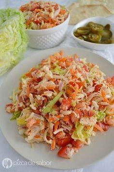 Salpicón de pollo www.pizcadesabor.com