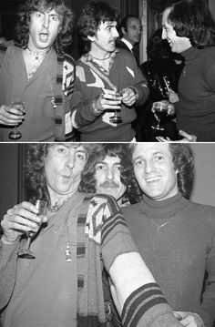 Eric Idle, George Harrison and Stuart Lerner Eric Idle, Linda Mccartney, Monty Python, Ringo Starr, George Harrison, Yoko, Music Love, John Lennon, Celebrity Photos