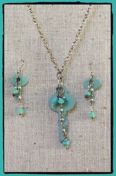 Suitcase key earrings and key necklace by LjBlock Designs