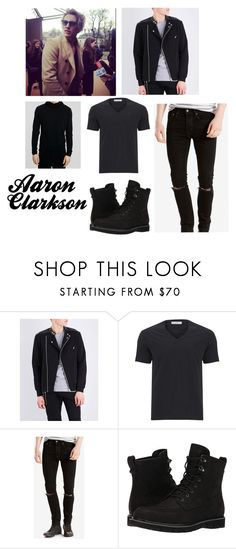 """Aaron Clarkson"" by stereocristiana on Polyvore featuring The Kooples, Versace, Levi's and Timberland"