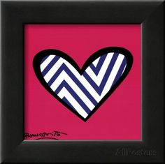 Zig Zag Love Posters by Romero Britto - AllPosters.co.uk
