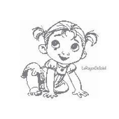 Cross stitch pattern Anna childhood from Frozen sketched portrait Instant download PDF by LeRayonDeSoleil on Etsy
