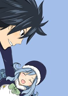 Fairy Tail- Juvia and Gray Fairy Tail Gray, Fairy Tail Funny, Fairy Tail Natsu And Lucy, Fairy Tail Ships, Fairy Tail Anime, Nalu, Dragons, Juvia And Gray, Fairy Tail Photos