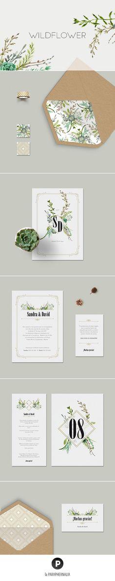 Papelería de boda - Invitaciones de boda  - Boda en el bosque - Bodas en el jardín #decoraciondeboda
