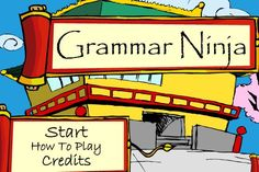GRAMMAR NINJA~ Fun, addictive video-style game. Fantastic way to practice the…