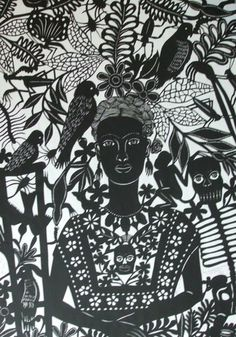 Frida - One of Margarita Fick's large Papel Picados.
