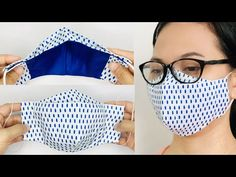 DIY Face Mask | NO FOG on Glasses Face Mask Sewing Tutorial - YouTube Sewing Patterns Free, Free Sewing, Free Pattern, Pattern Sewing, Sewing Diy, Easy Patterns, Simple Pattern, Skirt Patterns, Pattern Fabric