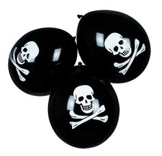Globos piratas: Este lote de globos piratas surtidos, de tamaño estándar, es ideal para decorar tu fiesta en cualquier ocasión.