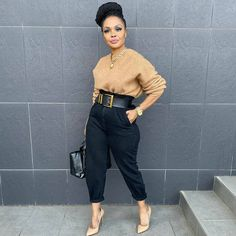 Classy Casual, Classy Outfits, Casual Looks, Stylish Outfits, Fall Outfits, Fashion Outfits, Womens Fashion, Black Girl Fashion, Work Fashion