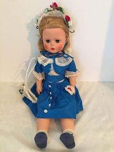 """Vintage DeLuxe 1956 Sweet Amy Soft All Rubber 24"""" Doll Original Clothes & Box   #DeLuxeToyCreations"""