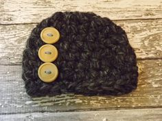 Baby Hats Baby Boy Hats Crochet Baby Hats Baby Boy Button Hats Newborn Baby Boy Hats Newborn Photography Props Baby Hats Photo Props Boys. $22.50, via Etsy.
