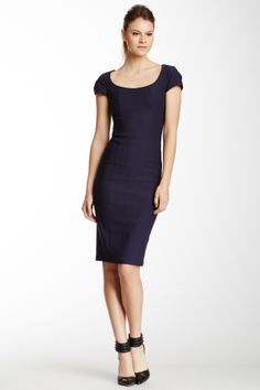 New Haven Scoop Neck Twill Dress