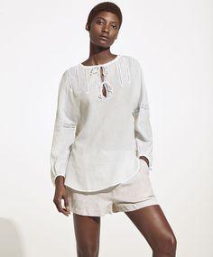 Koszula w romantycznym stylu - null - Modowe trendy SS 2017 dla kobiet na stronie Oysho: bielizna, odzież sportowa, motywy etniczne i cygańskie, buty, dodatki, akcesoria i stroje kąpielowe.