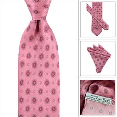 Match up like a pro, in this BRIONI Pink Geometric Silk Tie Pocket Square handkerchief Set!  |  Have at it! http://www.frieschskys.com/neckwear/ties  |  #instastyle #mensfashion #mensstyle #menswear #dapper #stylish #MadeInItaly #Italy #couture #highfashion
