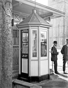 Public telephone box in Christchurch, August Steffano Webb Collection, Alexander Turnbull Library Nz History, Christchurch New Zealand, History Teachers, Telephone, Public, In This Moment, Cityscapes, Country, Kiwi