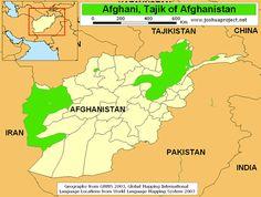Pray / Tajik, Afghan of Afghanistan map
