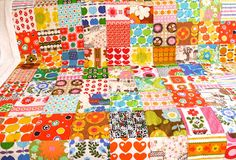 Jane Foster Blog: Vintage 70s Fabric Quilt Finished  -  Jane Foster