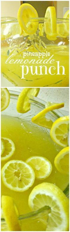 Pineapple Lemonade Punch ~ Simple to prepare but pack a big punch