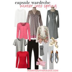 capsule wardrobe :: winter into spring