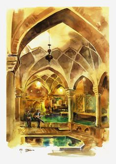 Kerman . Iran water color 35 x 57 cm