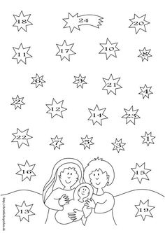Christmas Calendar, Why Christmas, Christmas Countdown, Christmas Crafts For Kids, Christmas Colors, Sunday School Activities, School Calendar, Church Crafts, Mandala Coloring