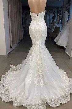 Lace Mermaid Wedding Dress, Sexy Wedding Dresses, Mermaid Dresses, Bridal Lace, Bridal Dresses, Lace Bodice, Custom Dresses, Dress And Heels, Shoulder