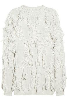 3.1 Phillip Lim Fringed wool-blend sweater - dreaming of this for winter!  #fashion @NET-A-PORTER Group LTD IT Careers