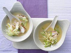 Miso-Suppe mit gebratenem Hähnchenfilet | Kalorien: 196 Kcal | Zeit: 50 min.