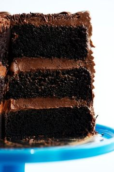 Best-Ever Chocolate Nutella Layer Cake via Sweetapolita. FANTASTIC recipe for chocolate sponge. Will be using this as my go-to chocolate cake recipe from now on! Dark Chocolate Cakes, Chocolate Desserts, Nutella Chocolate Cake, Nutella Frosting, Cream Frosting, Just Desserts, Delicious Desserts, Sweet Recipes, Cake Recipes