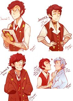 Humanized Journal, Eins, Zwei and Drei. by best artist: Elentori. my favorite artist.