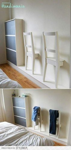 Best of recycling - 75 upcycling ideas that will inspire you - Page 4 of 4 - Decorative milk- Best of Wiederverwertung – 75 Upcycling Ideen die Dich begeistern werden – Seite 4 von 4 – Dekomilch Honestly, who doesn& want … - Diy Home Decor, Room Decor, Wall Decor, Diy Furniture, Furniture Design, Bedroom Furniture, Ikea Hackers, Bedroom Chair, Ikea Bedroom