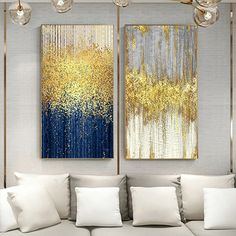 Abstract Blue Golden Dots Canvas Painting Abstract Wall Picture for Living Room Big Wall Art Decor Grey Green Poster and Print – Linh's Corner Big Wall Art, Wall Art Decor, Wall Art Prints, Canvas Prints, Wall Canvas, Canvas Art, Images Murales, Images D'art, Abstract Wall Art