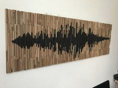 """Pannello per ottimizzazione acustica """"onda sonora"""" Wood Wall Art, Backdrops, Audio, Texture, Crafts, Etsy, Vintage, Surface Finish, Manualidades"""