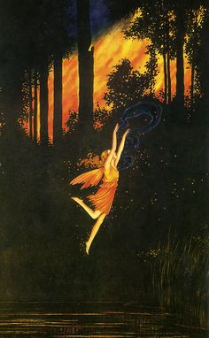 Artist - Ida Rentoul Outhwaite (1888-1960) was among the first Australian illustrators to achieve international fame.  Famous for her wonderfully whimsical fairy and fairy tale images.