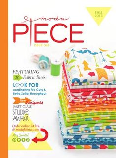 Moda Piece No. 3 catalog full of new fabric and patterns