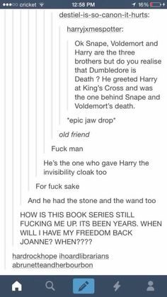 Dumbledore is death how did I not realise wtf