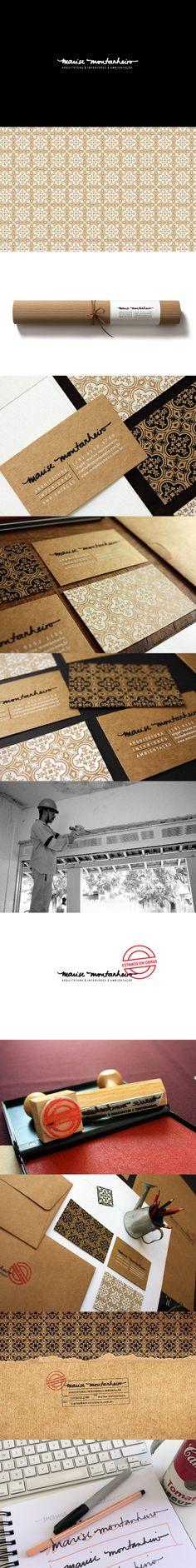 Identidade visual em kraft completa da arquiteta Marise Montanheiro