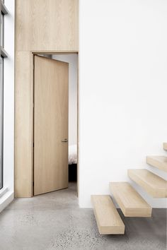 Atelier Pierre Thibault Designs a Contemporary Penthouse in Montreal Penthouse 03 by Atelier Pierre Thibault Small Doors, The Doors, Windows And Doors, Interior Barn Doors, Interior And Exterior, Exterior Doors, Door Design, House Design, Built In Furniture