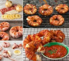 Bacon Wrapped Donuts stuffed with Pineapple and Mozzarella