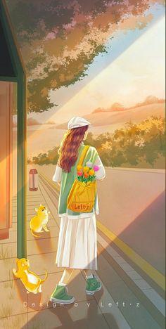 Cute Cartoon Drawings, Cute Cartoon Girl, Cartoon Art Styles, Cute Anime Wallpaper, Cartoon Wallpaper, Kawaii Anime Girl, Anime Art Girl, Alone Art, Anime Fantasy