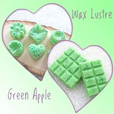 Highly scented and long lasting fragrance. Gorgeous home fragrance. Complimentary Colors, Wax Melts, Luster, Great Gifts, Fragrance, Colours, Apple, Green, Handmade