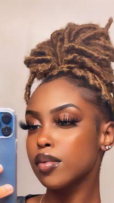Cute Makeup, Pretty Makeup, Beauty Makeup, Makeup Looks, Hair Makeup, Hair Beauty, Baddie Hairstyles, Black Girls Hairstyles, Pretty Hairstyles