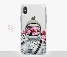 Astronaut iPhone X Clear Case  Clear Case  For iPhone 8
