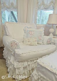 Years ago, I bought these pillow shams to put over my sofa pillows that came with my sofa. All to make them more shabby. I loved the lit...