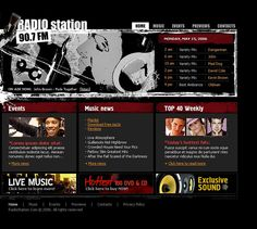 Radio Website Flash Template #11418