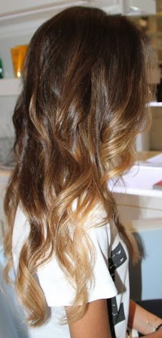 Summer hair color inspiration - ombre Maybe not so light at the ends, but this is perfect!