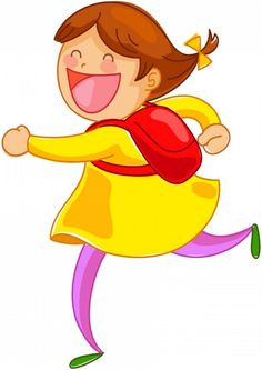 Funny Cartoon Pictures, Children Back to School 2