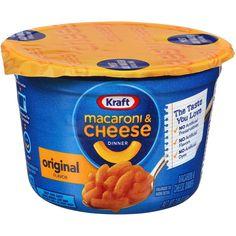 Kraft Easy Mac Original Cheese, Microwavable Cups (Pack of Grocery Gourmet Food Best Sellers Kraft Mac N Cheese, Mac And Cheese Cups, Boxed Mac And Cheese, Easy Mac And Cheese, Mac Cheese Recipes, Macaroni Cheese, Gourmet Recipes, Macaroni Pasta, Recipes Dinner